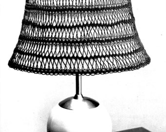 Crochet Pattern and HAIRPIN LACE Lampshades, Table lamp covers,  Shades 3 designs