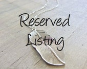 Reserved for Natalie - January birthstone drop charm in gold