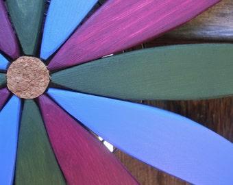 Starburst Wooden Wreath Hanging Art for Outdoor Wall, Fence, Door - Outdoor Home Decor  - outdoor art handcrafted by Laughing Creek
