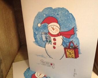 Teachers Love Snow Days Note Cards