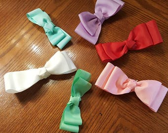 Boutique Custom Made OOAK Ribbon Hairbow-Choice of Color-