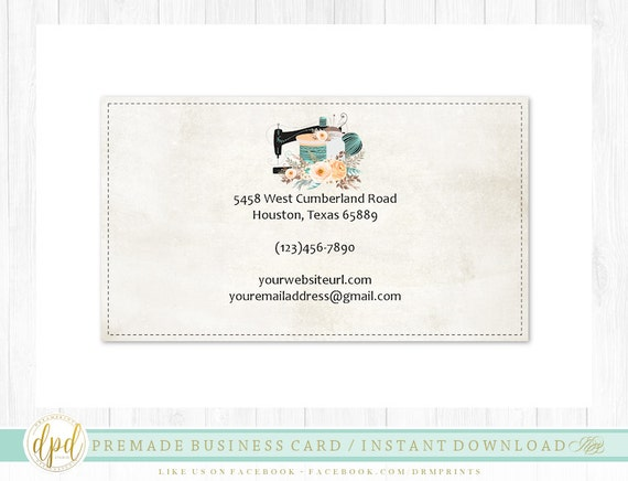 Custom Premade Blank DIY Single Sided Business Card | Business Template | Business Branding | Business Graphics | INSTANT DOWNLOAD-AA114