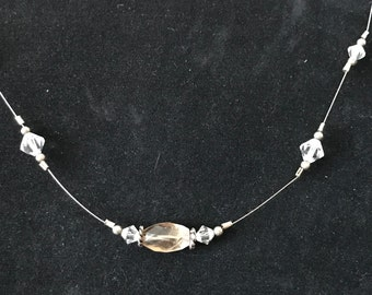 Swarovski Crystal Wire Necklace and Earrings  Set