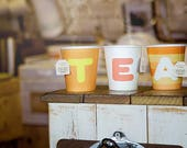 alphabet initial paper cups for party (200 cups)