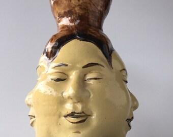 Four Face Vase, Buddha Sculpture, The Bodhisattva's Insight Vessel