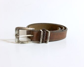 Vintage Brighton Belt / Brown Leather / Small