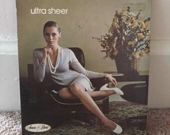 Vintage 1970s Panty Hose Deadstock in Original Packaging - Ultra Sheer - White - Tall
