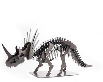 "22"" Triceratops Metal Dinosaur 3D Puzzle"
