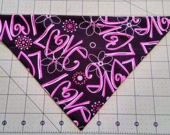 Valentine Dog Bandana, neckerchief, February, Love, wedding