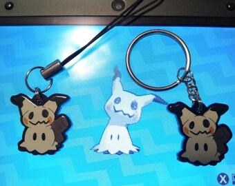 Mimikyu Acrylic Phone Charm, Key Chain, or Necklace Pokemon Sun and Moon