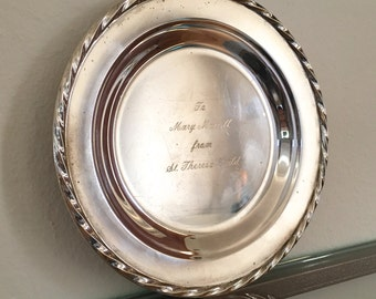 Vintage Towle Sterling Silver Dish Appreciation Award Dish