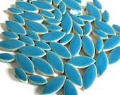 Turquoise Blue Ceramic Petal Leaves Mix//Mosaic Supplies//Mosaic Pieces//Crafts//Mosaic Tiles