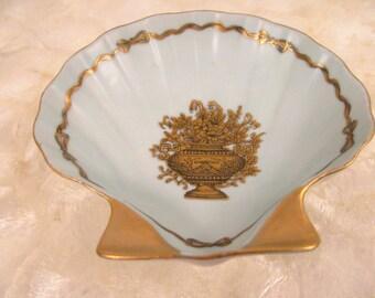 Elegant Blue Shell Dish from Ardalt Lenwile - Trinket - Display - Ring - Soap -