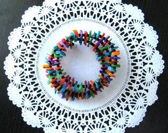 Colorful bracelet statement bracelet color boho bracelet bohemian bracelet for gift for her Frida Kahlo inspiration