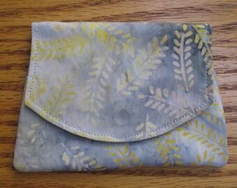 Leaves Blowing in the Wind Small Batik Wallet