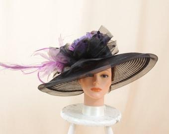 Lavender and Black Hat * Kentucky Derby Hat * Church Hat * Wedding Hat * Ascot Hat * Wide Brim Hat * Formal Hat * Royal Ascot