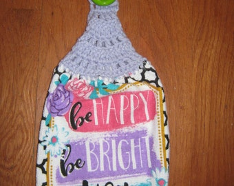 Be Happy Hanging Kitchen Towel