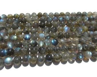 Labradorite Smooth Round (Quality A+) / 8.5 to 9.5 mm / 36 cm / LAB-008