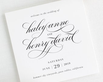 Haley Wedding Programs - Deposit