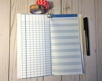 Bullet Journal Printable Pages, Ledger Papers, Midori Inserts