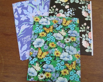 Vintage Wrapping Paper Lot - Florals in 3 sheets