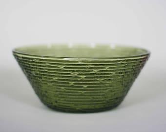 vintage anchor hocking soreno green glass bowl