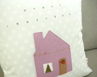 Holiday Pillow - Merry Christmas Pillow Cover - Christmas House - Holiday Decor