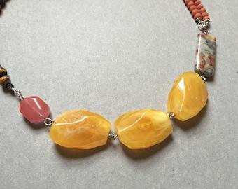 Corral, Tiger Eye Necklace Set