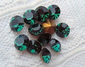 SS21 Swarovski Emerald Green Round Rhinestones  #1012