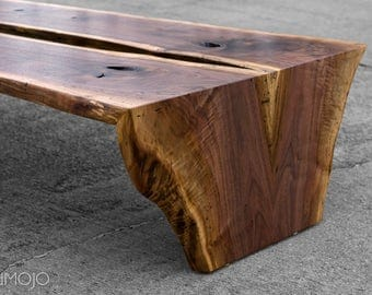 IN STOCK READY to ship Live Edge Walnut Coffee Table In Stock and Ready to Ship