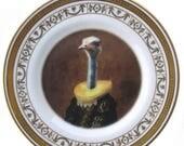 """ON SALE Marquise de Struthio Portrait Plate 6.5"""""""