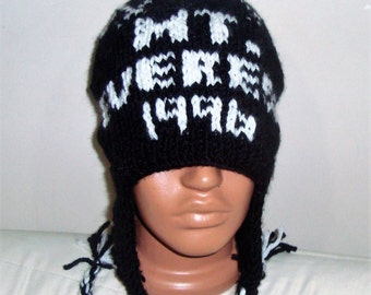 MT. EVEREST 1996 Hat Mount Everest Hat Personalized Gift Mens Hat Mountain Mountaineering Climbing Hat Mens Gift for Him Hand Knit Hat