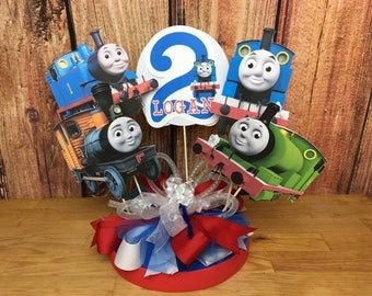 Thomas Personalized Banner/ cake topper/ paper straws/ cupcake toppers/ center piece/ welcome sign/ and more.
