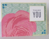 Large Pink Flower Christian Thank You Card With Scripture