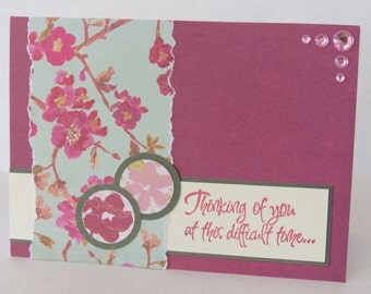 Thinking Of You In This Difficult Time Christian Sympathy Card With Scripture