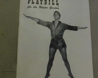 Peter Pan Theatre Program Stage Play Mary Martin 1954 Winter Garden Playbill
