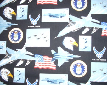 United States Air Force  -  Cotton Fabric -  33 1/2 inches long by  15  inches wide