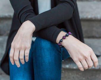 Purple Bracelet, Spiritual Jewelry, Amethyst Bracelet