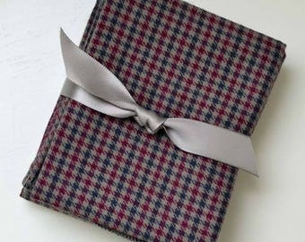 Gentleman's Casual Hankie Soft, Brushed Cotton Handkerchiefs--Your Choice of Size