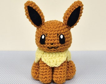 Amigurumi Crochet Pattern Etsy : Crochet eevee Etsy