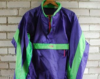 1980s 80s North Face Windbreaker Jacket Mens XL extra large