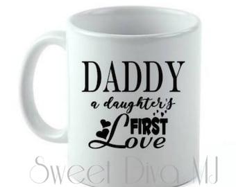 Dad Mug, Dad Daughter, Father's Day Gift, Personalized Mug, Custom Quote Mug,  Daddy mug, Father Mug, Gift for Him, Gift for Dad