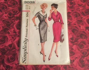 60's Simplicity Sewing Pattern