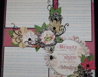 Family Wedding Daughter College Premade 12x12 Scrapbook Layout