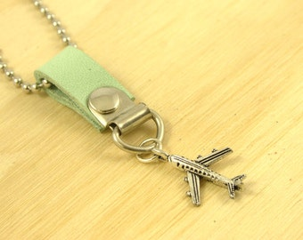 SALE 50% Airplane charm necklace Private Jet