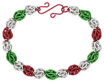 Jingle Bells Sweetpea Chainmaille Bracelet Kit