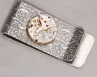 Money Clip Silver Money Clip Money Clip Men Steampunk Men