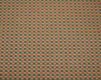Red Green Check Upholstery Fabric REMNANT 57 inches x 12.375 yards