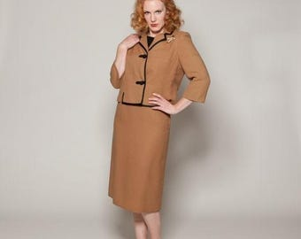 HALF PRICE SALE Vintage 1960s I Magnin Suit Forstmann Wool 3 Piece Fall Fashions