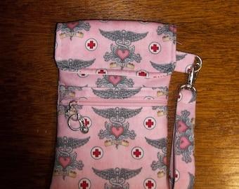 """Pink """"Nursing"""" Cell Phone Case/Wristlet"""